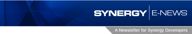 Synergy E-News - A Newsletter for Synergy Developers