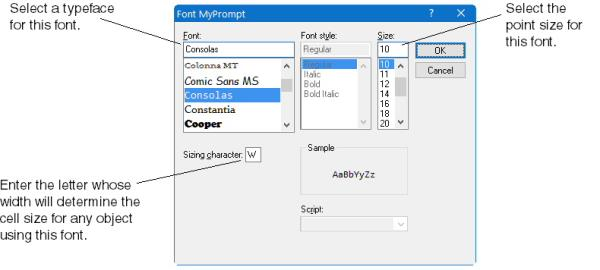 Using fonts on Windows