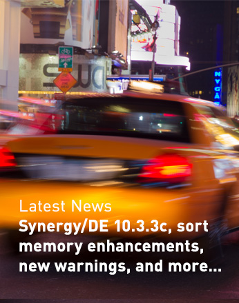 Synergy/DE 10.3.3c, sort memory enhancements, new warnings, and more...