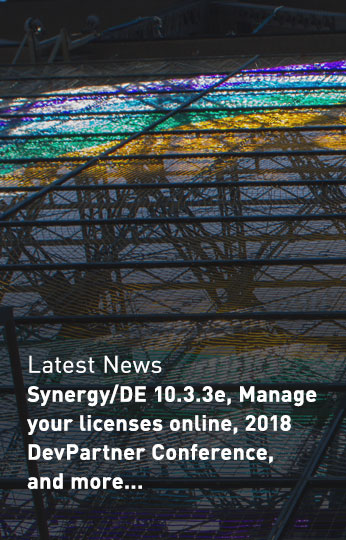 Synergy/DE 10.3.3e, Manage your licenses online, 2018 DevPartner Conference, and more...