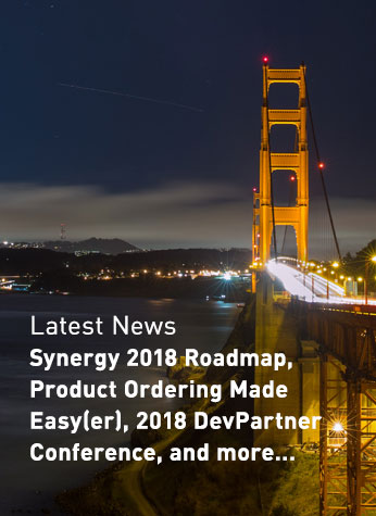 Latest News - Synergy 2018 Roadmap, Product Ordering Made Easy(er), 2018 DevPartner Conference, and more...